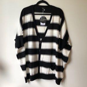 Striped Oversized Cardigan/sweater